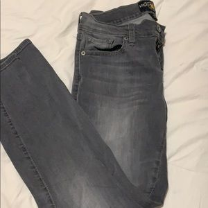 Low rise grey jeans